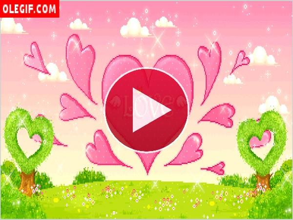 GIF: Corazón de amor