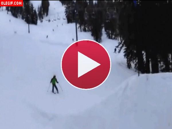 GIF: Perdiendo los esquís