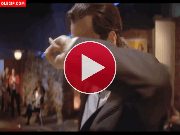 GIF: John Travolta bailando (Pulp Fiction)