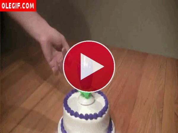 Bonita vela de cumpleaños