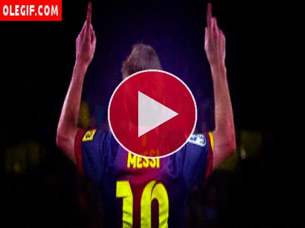 GIF: Leo Messi moviendo los dedos