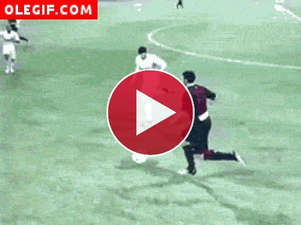 Caídas en un partido de fútbol