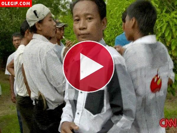 Vaya ritmo tienen estos hombres vietnamitas