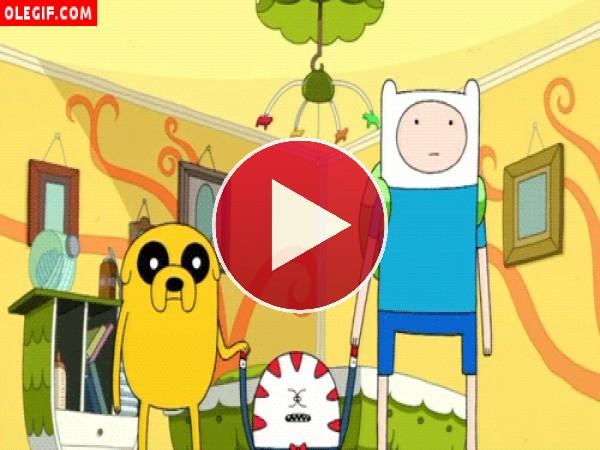 """GIF: Movimiento de ojos a lo Marujita Díaz en """"Adventure Time"""""""