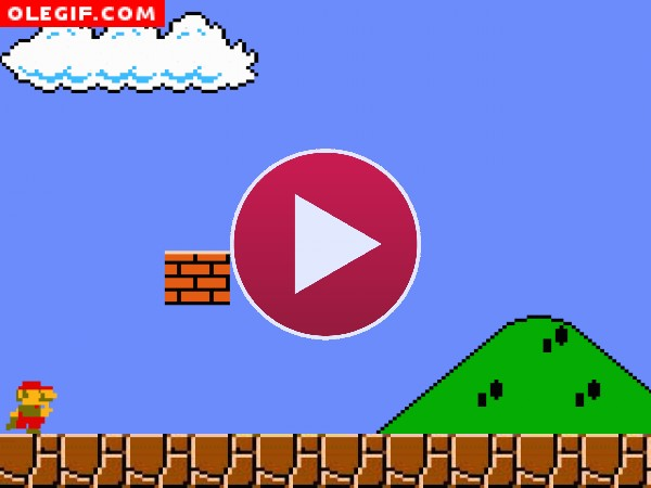GIF: Super Mario se ha comido una seta venenosa