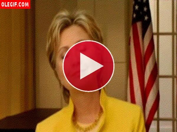 GIF: Hillary Clinton disfrutando de la música