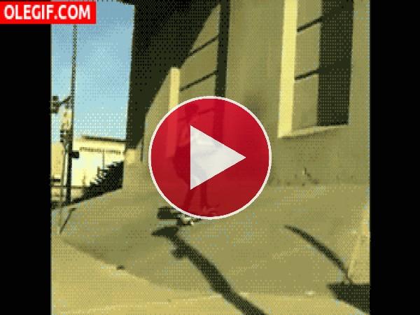 Skater dando una voltereta