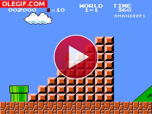 GIF: Mario Bros está en baja forma