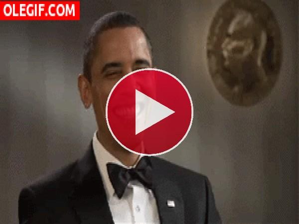 GIF: Qué buen chiste le deben estar contando a Obama