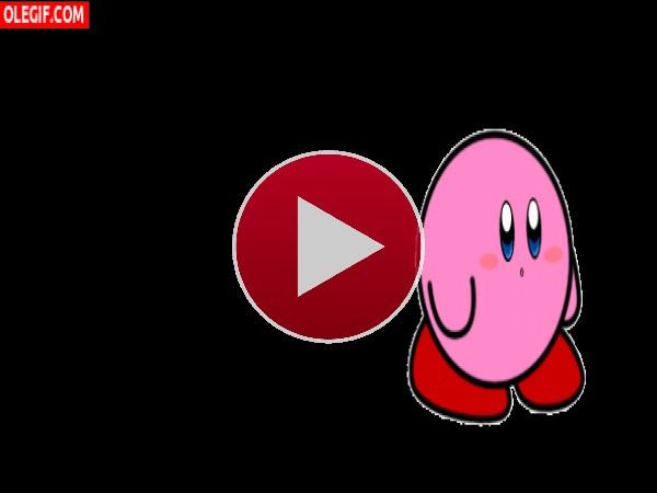 GIF: Pero qué bien baila Kirby