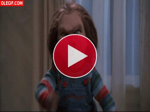 GIF: Anda que no es feo Chucky (El Muñeco Diabólico)