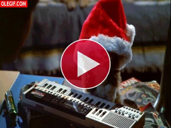 Gizmo bailando en Navidad