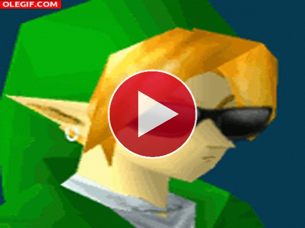 GIF: Link en modo fiestero