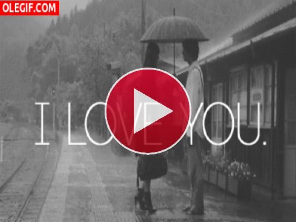 GIF: Amor bajo la lluvia