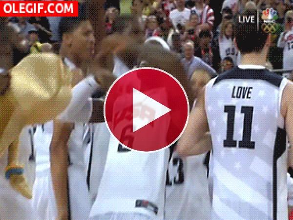 El baile de la victoria de LeBron James
