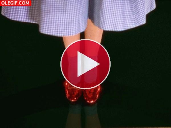 Destellos en las zapatillas de rubí de Dorothy