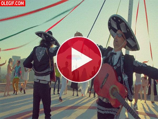 GIF: Estos mariachis se van a marear