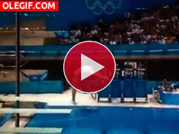 Un desastroso salto olímpico