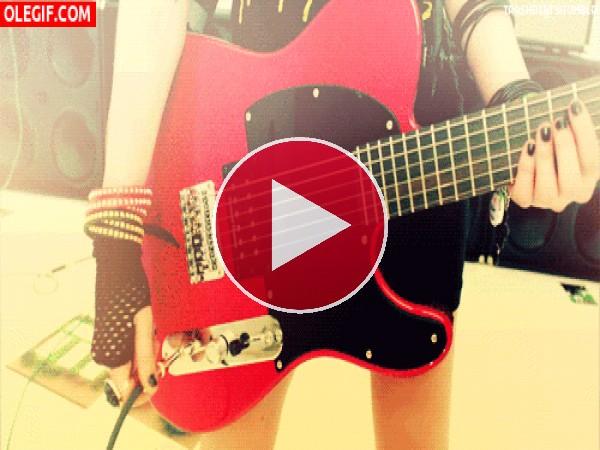 Conectando la guitarra