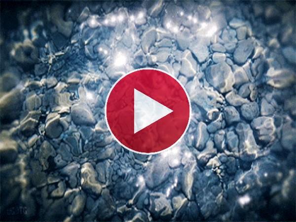 GIF: Destellos en el agua cristalina