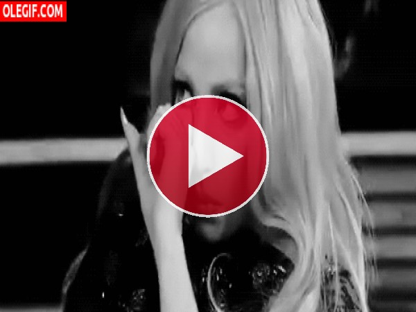 GIF: Lady Gaga llorando
