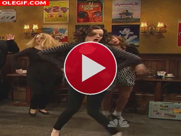 GIF: El extraño baile de Emma Stone