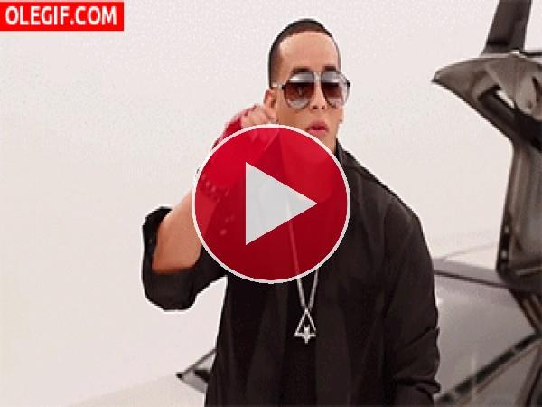 GIF: ¿Qué mira Daddy Yankee?