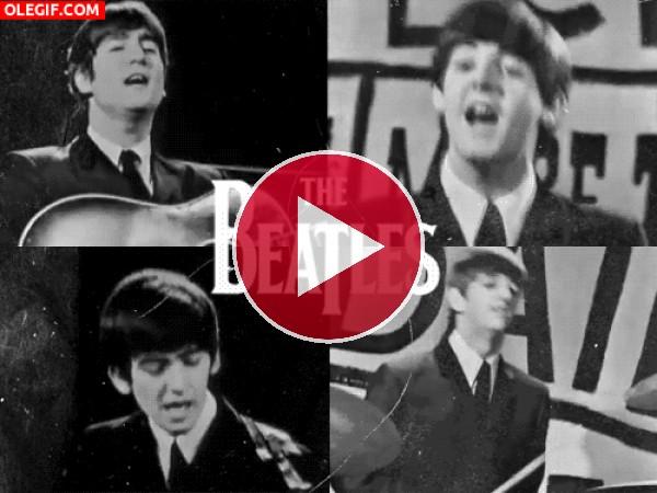 GIF: Los Beatles cuando eran unos mozos