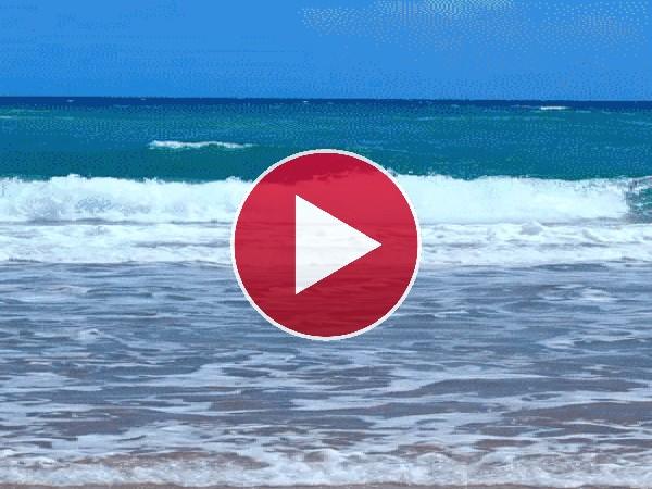 Las olas del mar en movimiento