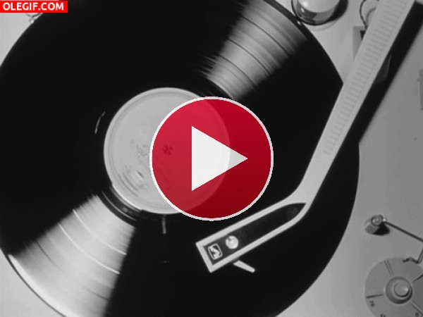 GIF: Música sonando en el tocadiscos