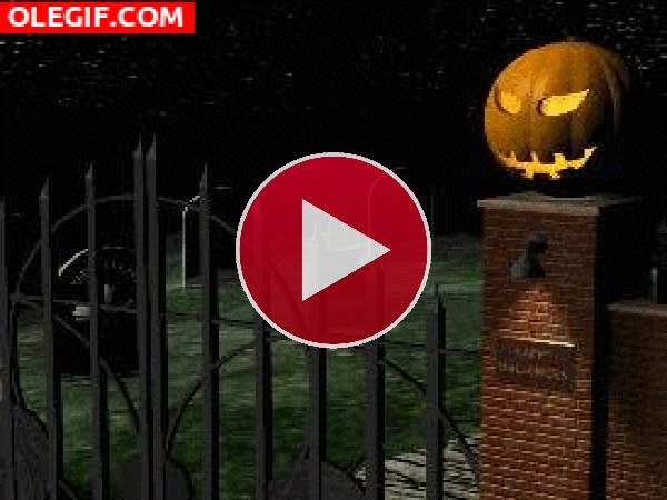 GIF: Calabaza iluminada para Halloween
