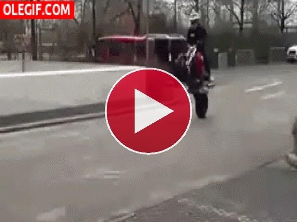 GIF: Me caí de la moto