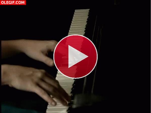 GIF: Tocando una canción al piano