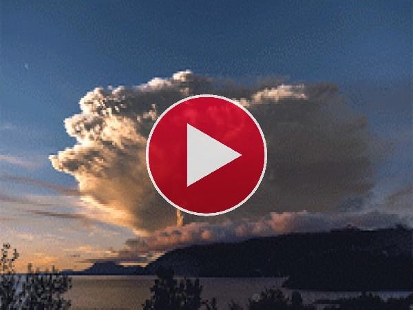 GIF: Erupción del volcán Calbuco