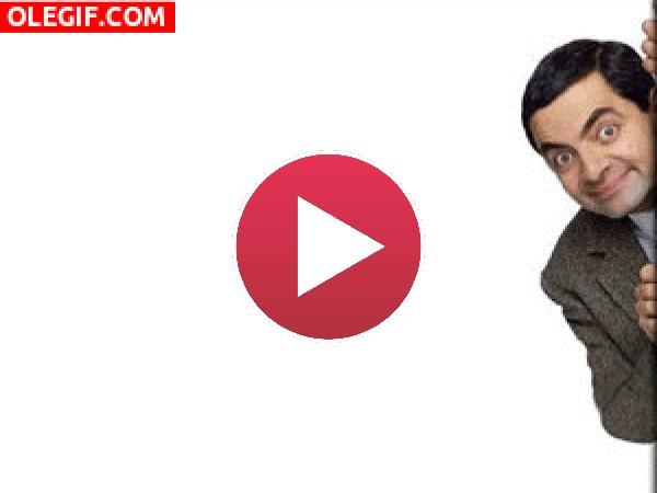 GIF: Hola soy Mr. Bean