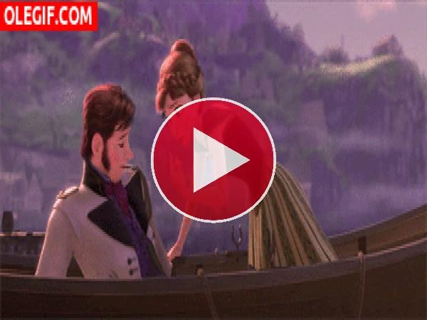 GIF: Qué moderna es la princesa Anna