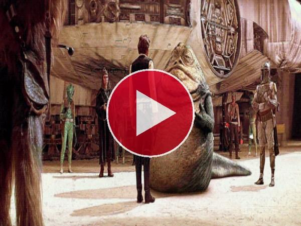 Jabba charlando con Han Solo