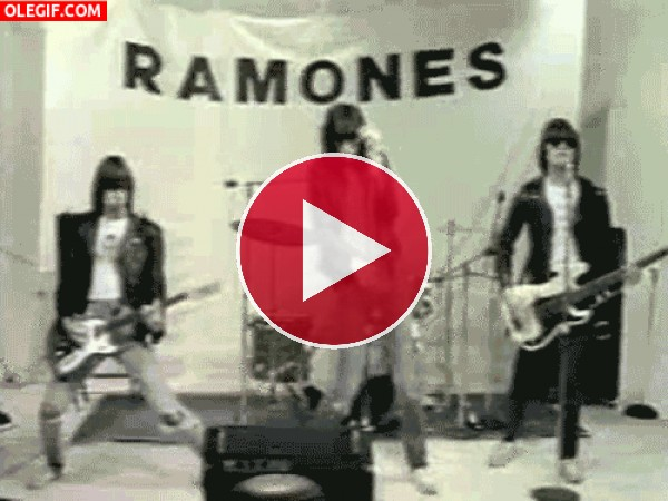 GIF: Ramones en conciero