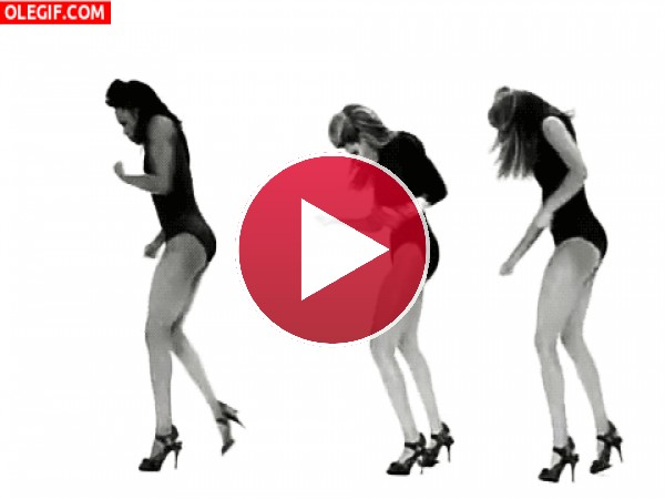 GIF: El trío de las Single Ladies moviendo el esqueleto