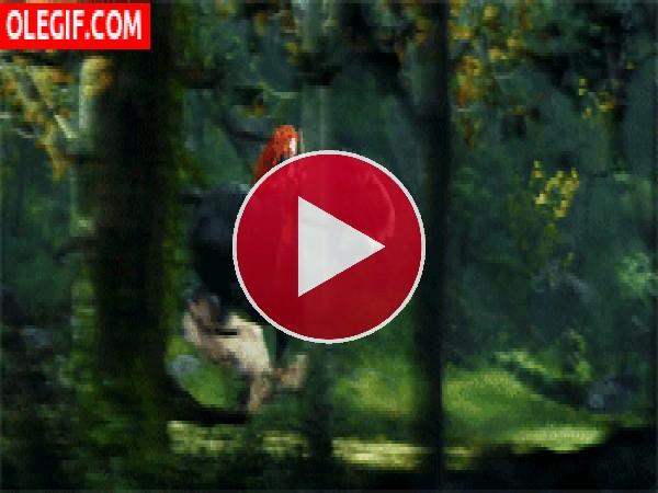 GIF: La valiente Mérida lanzando una flecha