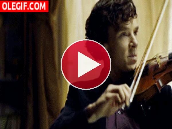 GIF: Estoy cansado de tocar el violín