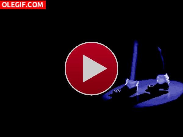 GIF: Los pies de Michael Jackson