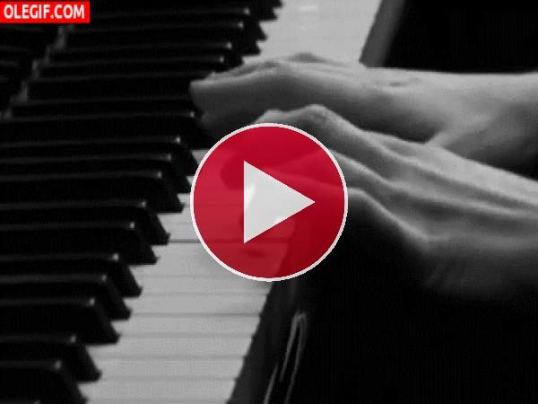 GIF: Tocando el piano