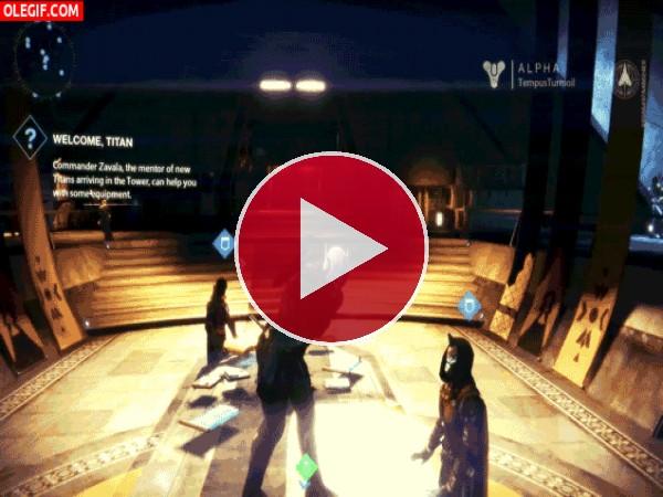 GIF: Personaje de Destiny marcándose un baile