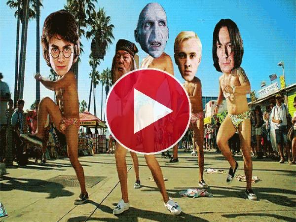 """GIF: Qué bien bailan el """"I'm sexy and i know it"""" algunos personajes de Harry Potter"""