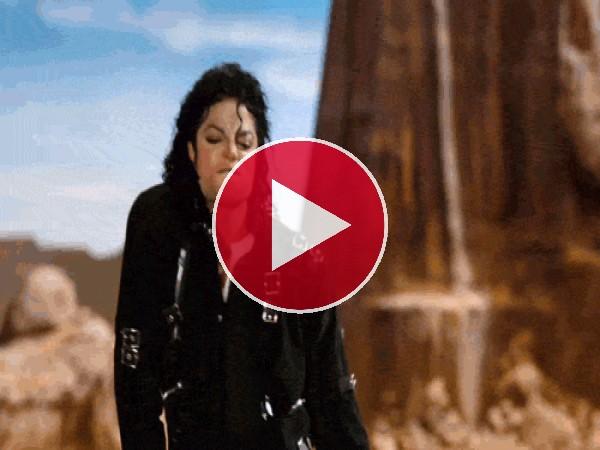 Michael Jackson bailando con mucho ímpetu