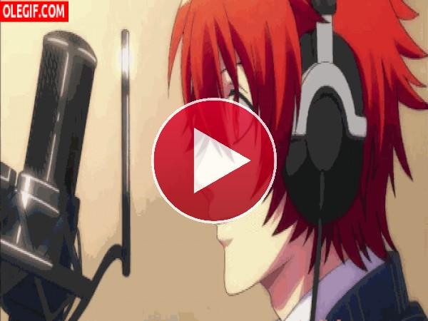 GIF: Ittoki Otoya cantando