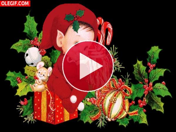 GIF: El duendecillo de la Navidad
