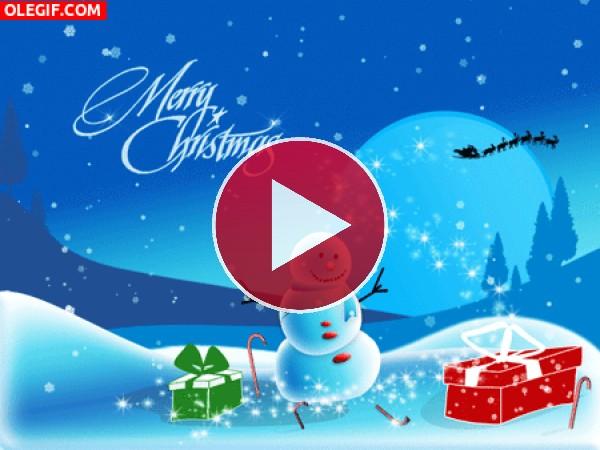 """GIF: Este muñeco de nieve te desea """"Feliz Navidad"""""""