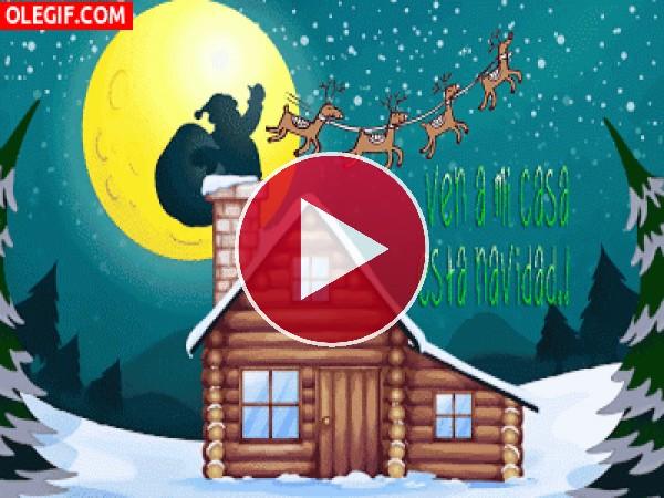 GIF: ¡Ven a mi casa esta Navidad!